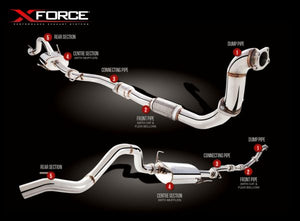 XForce Performance 4X4 Performance Exhaust to suit Holden Colorado (01/2008 - 01/2012)