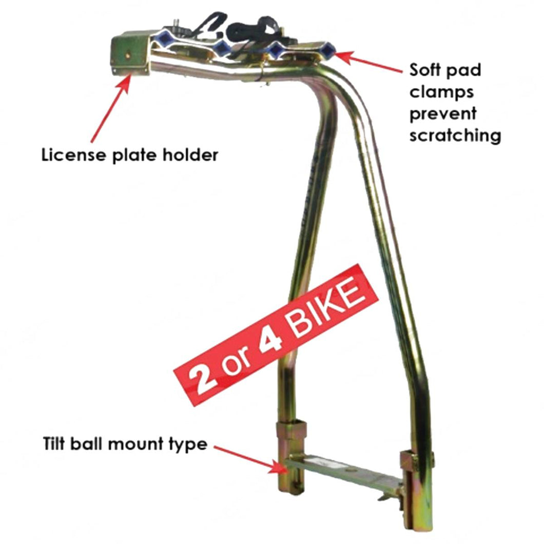 2 or 4 Bike Carrier - Tilt ball mount type.