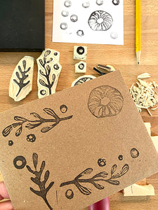 Loteria Press stamps and envelopes DIY