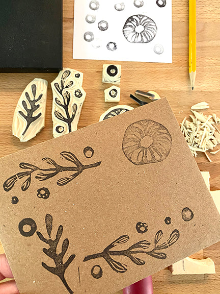 How to make easy stamps to add to your envelopes
