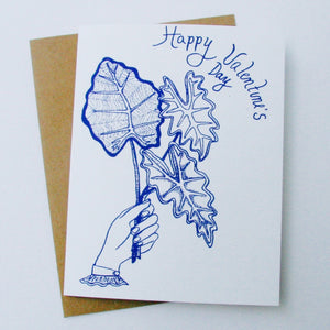 """Leaves Happy Valentine's Day"" Card"