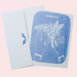 """Frangipani Thank You"" Card"