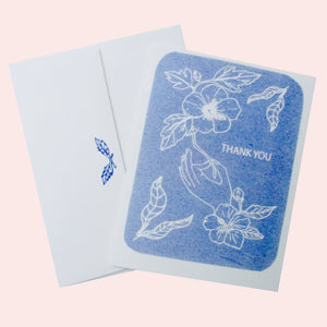 Thank You - Blue Hibiscus Card