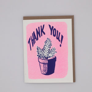 Thank You - Blue Succulent Card