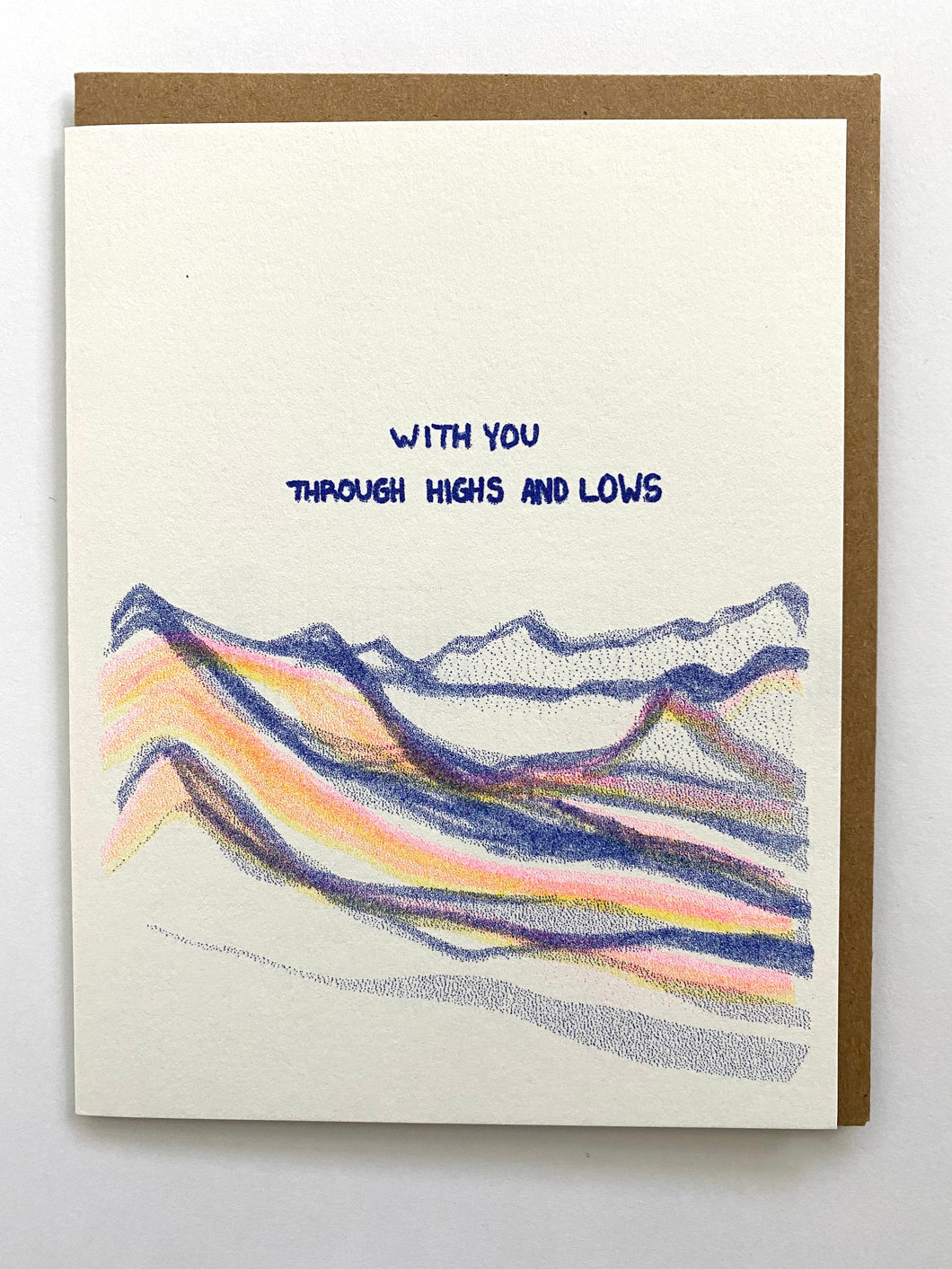 Highs and Lows Mountain Card