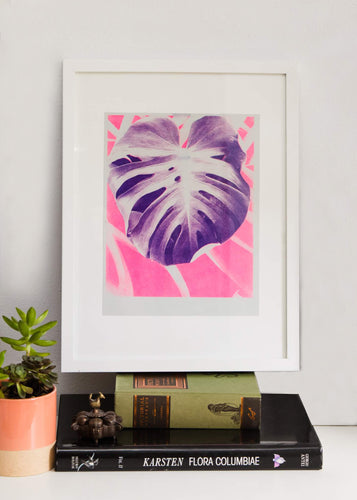 Purple Leaf Print
