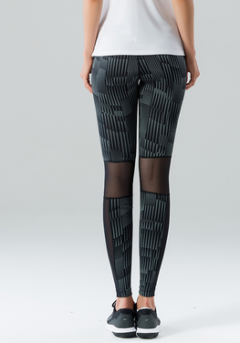 High Waist Reflective Design Pants