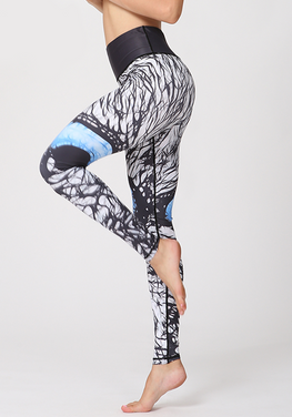 Printed High Waist Yoga Pants