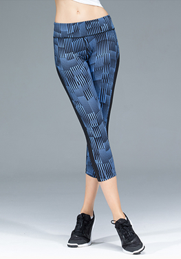 Quick-dry Vertical Stripe Capris