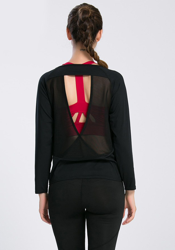 Backless Drape Cut Out Back T-shirt