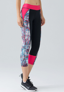 Mesh Panel Yoga  Zip Pocket Capris