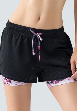 Yoga 2 in 1 Quick Dry Shorts
