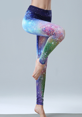 Gradient Elastic Yoga Pants