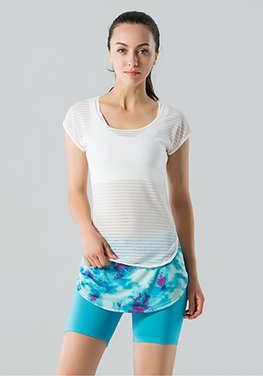 Hollow Out Mesh Yoga T-shirt