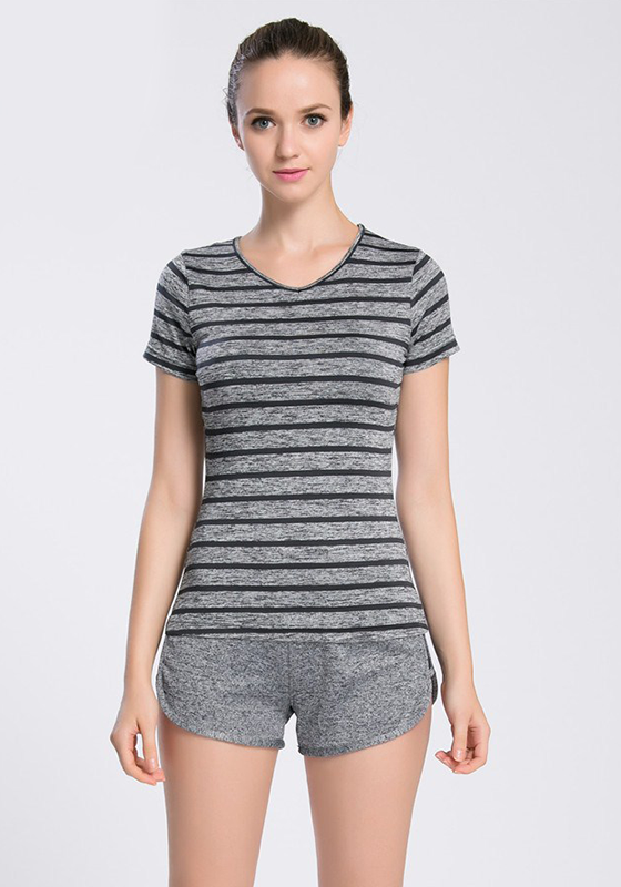 V-Neck Smooth Yoga Top