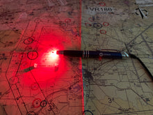 Red LED Pilot Pen with Tablet Stylus