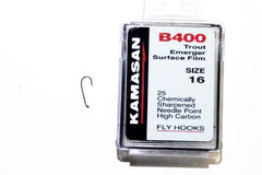 Kamasan Fly Hooks B400 Qty 25 Trout Emerger Surface Film