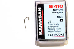 Kamasan Fly Hooks B410 Qty 25 Ideal For small Dry Flies
