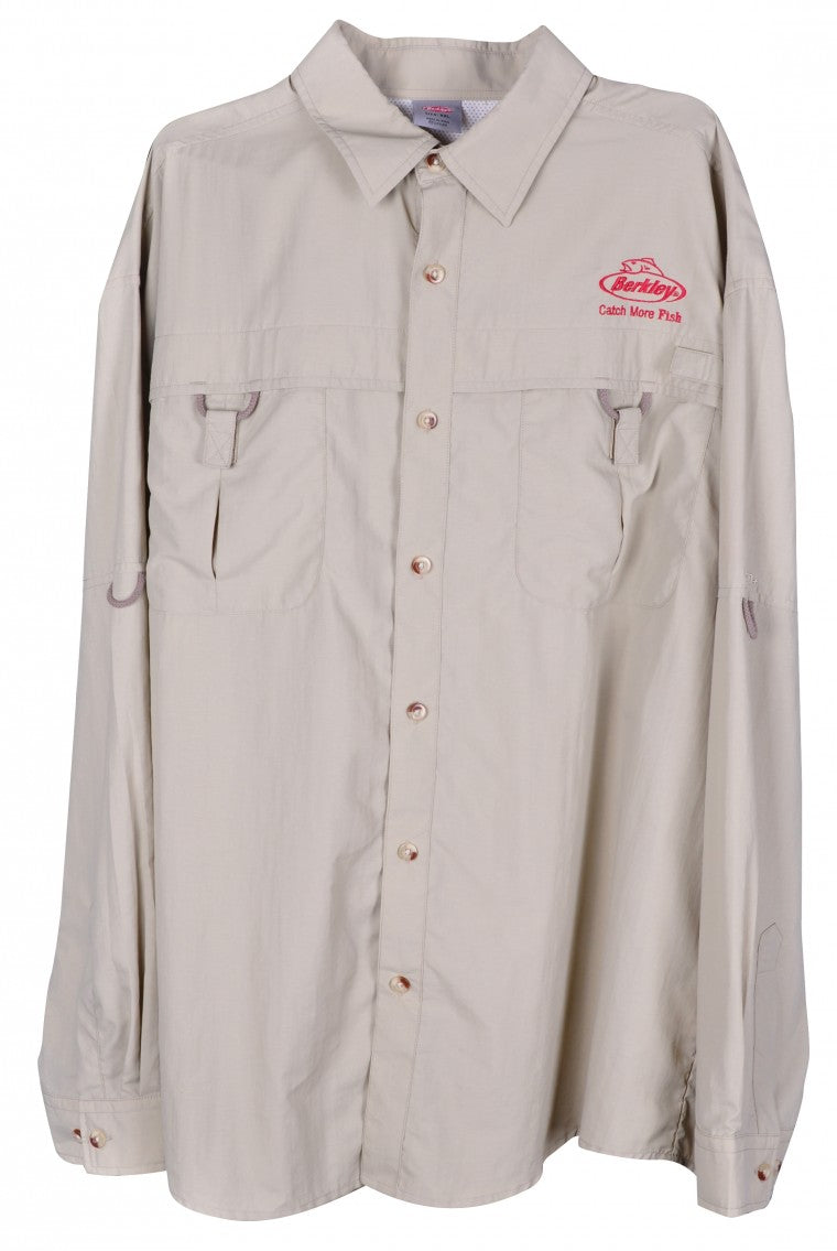 Berkley TECH Fishing Shirt Fawn size Small