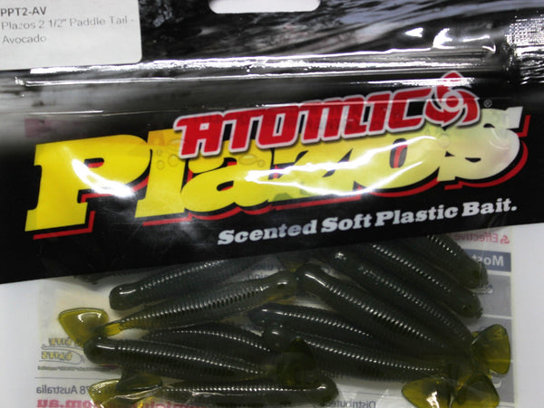 "Atomic Plazos Scented Soft Plastic Bait 2 1/2"" Paddle Tail"