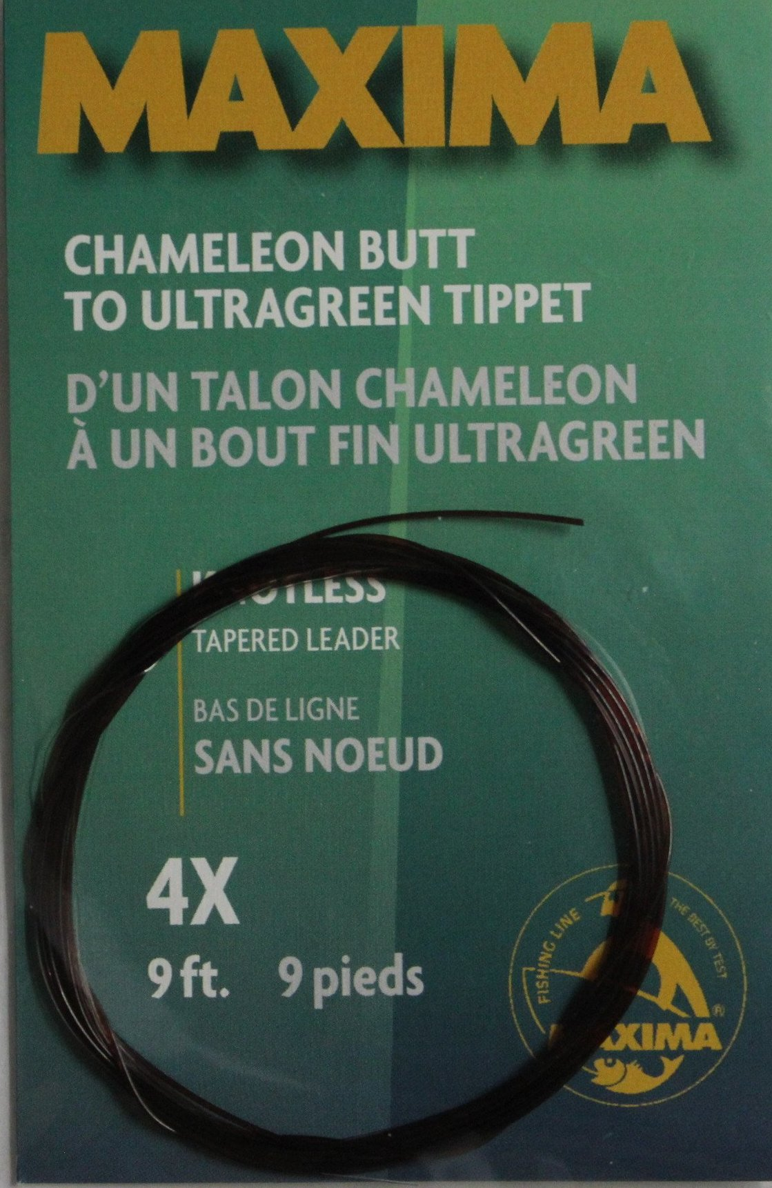 Maxima Chameleon Tapered Leader 9 feet