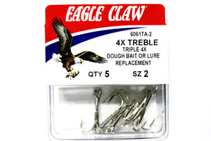 Eagle Claw 4X Treble Hook