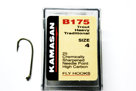 Kamasan Fly Hooks B175  Qty 25 for Wets, Lures and Nymphs
