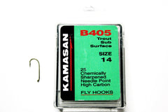 Kamasan Fly Hooks B405 Qty 25 Ideal For Dries, Emergers and Nymphs