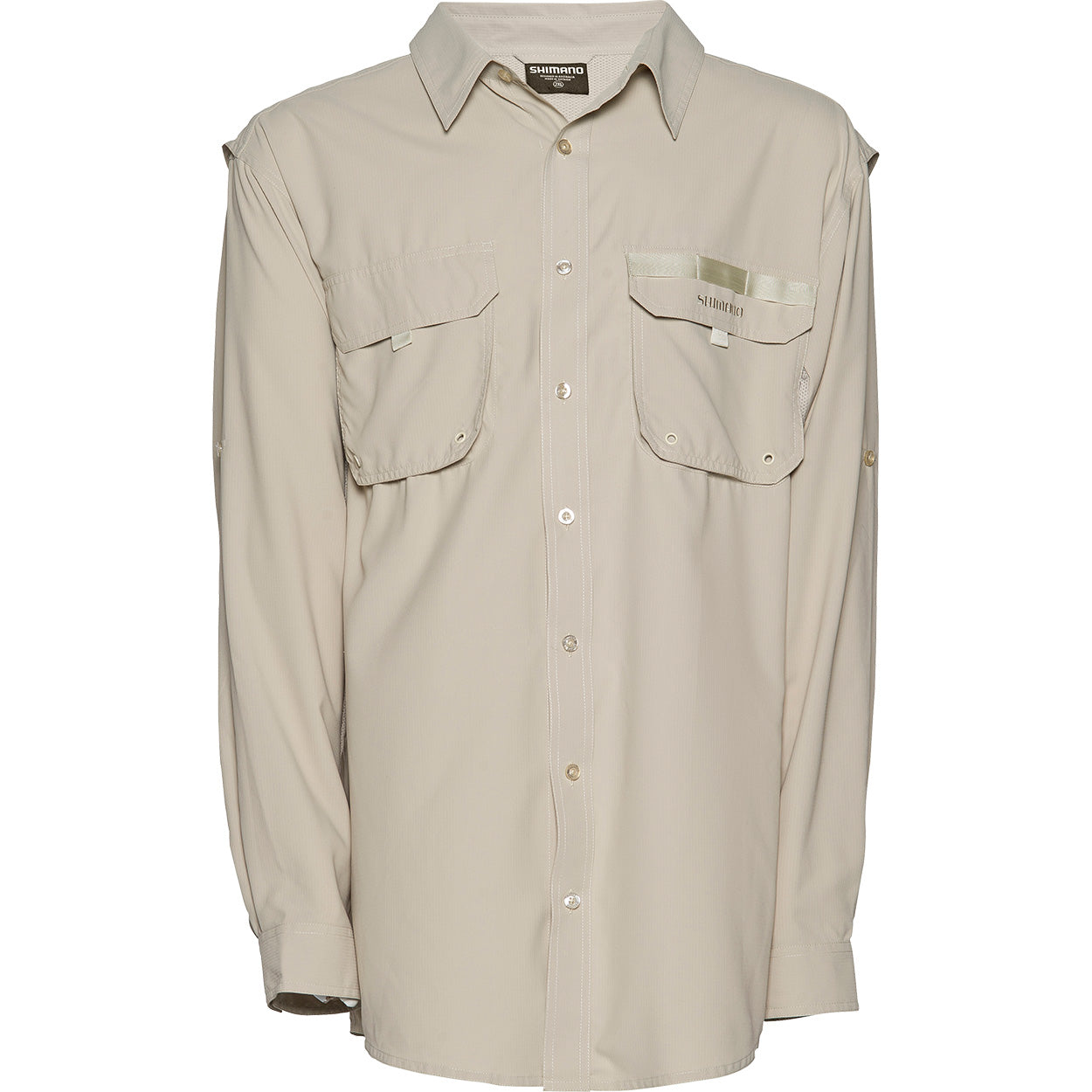 Shimano Vented Long Sleeve Shirt Colour Oatmeal