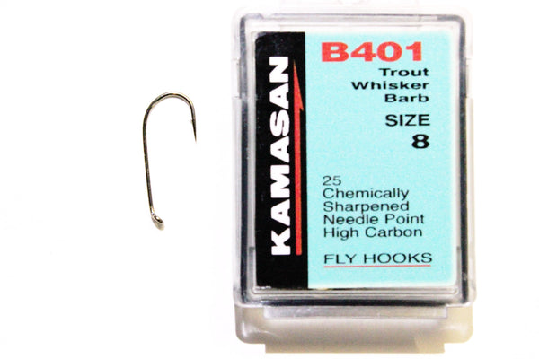 Kamasan Fly Hooks B401 Qty 25 Ideal for Drys and Lightly Weighted Nymphs