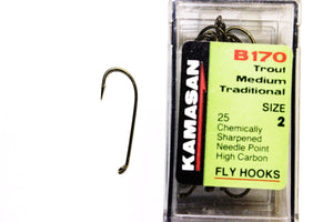 Kamasan Fly Hooks B170 Qty 25 for Nymphs and Wets