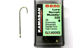 Kamasan Fly Hooks B820  Qty 25 Lure Nymph Muddler