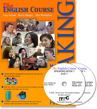 The English Course - Speaking Book 1: Student's Book and DVD Set