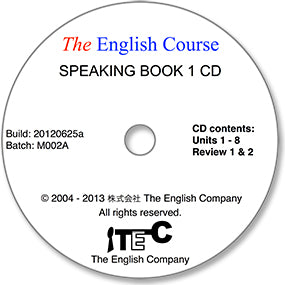 The English Course - Speaking Book 1: Audio CD (Teacher's Copy)