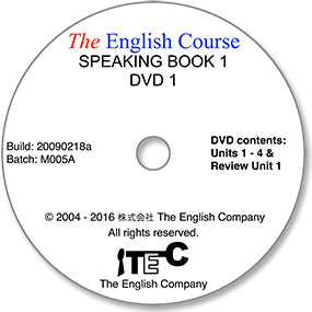 The English Course - Speaking Book 1: DVD 1 Only (Student's Replacement Copy)