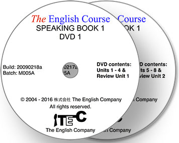 The English Course - Speaking Book 1: 2 x DVD Set (Teacher's Copy)