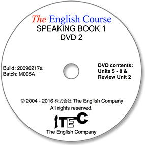 The English Course - Speaking Book 1: DVD 2 Only (Student's Replacement Copy)