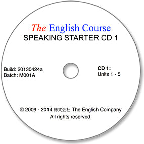 The English Course - Speaking Starter: CD 1 Only (Teacher's Replacement Copy)