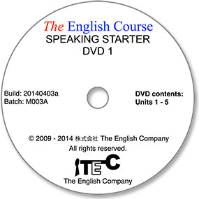 The English Course - Speaking Starter: DVD 1 Only (Student's Replacement Copy)