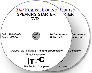 The English Course - Speaking Starter: 2 x DVD Set
