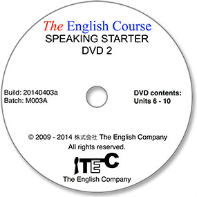 The English Course - Speaking Starter: DVD 2 Only (Student's Replacement Copy)