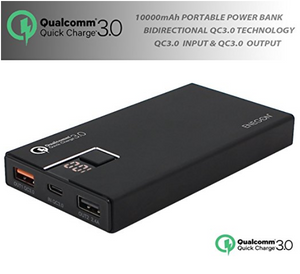 10000 mAh Portable Qualcomm Quick Charger 3.0