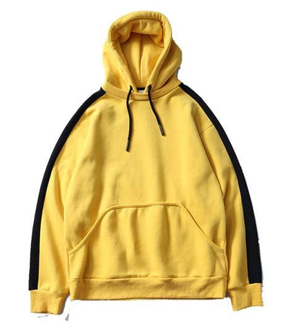 Side Stripe Hoodie / Yellow
