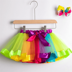Princess Rainbow Tutu with Matching Hair Bow