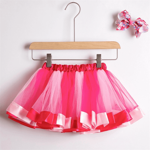 Image of Princess Rainbow Tutu with Matching Hair Bow