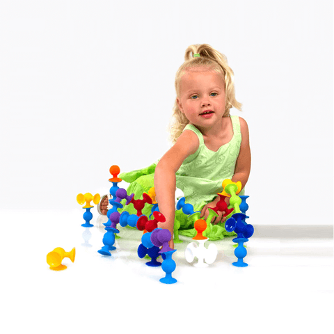 Image of Silicone Sucker Building Blocks