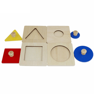 Montessori Wooden Shape Matching Puzzles-Puzzle Toys