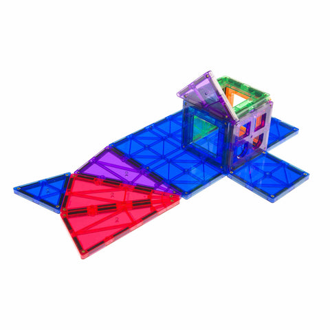 Playmags 60 Piece Set + 6 ABC Clickins Bonus-Puzzle Toys