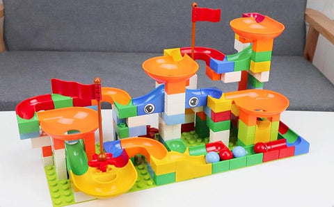 Image of Sample of Marble Race Run Maze Balls Track Building Blocks-Puzzle Toys