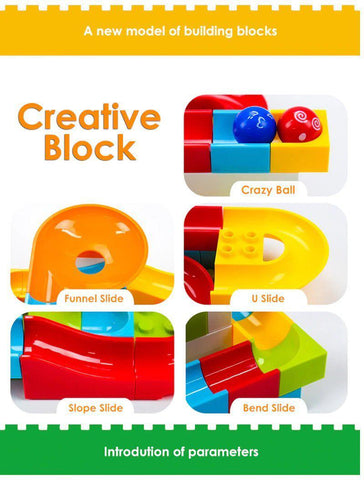 Image of Creativity Marble Race Run Maze Balls Track Building Blocks-Puzzle Toys